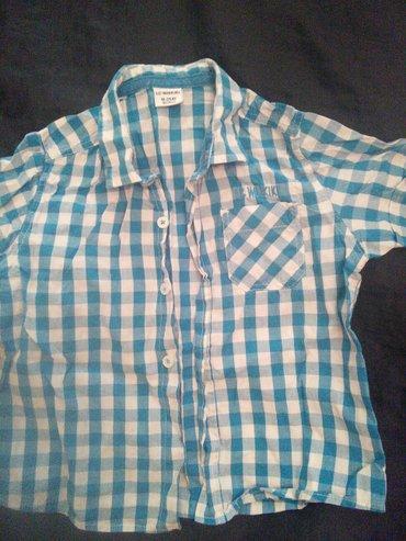 детская джинсовая рубашка в Азербайджан: Хлопок рубашка на 18месяцев