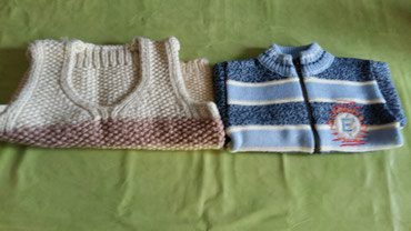 Prsluce rucni rad i dzemper za decu od 2god(polovno,ocuvano)oba za - Petrovac na Mlavi