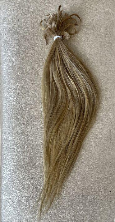 приму в дар породистую собаку в Кыргызстан: Продаю Натуральный волосЦвет : пшеничный блондЗакапсованный50 см - 160