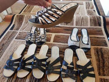 Женская обувь в Каракол: Продаётся босоножки,они все новые по 200.размеры 36.38.39.40