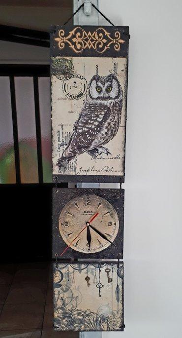 Drveni zidni sat dimenzija 17 x68 cm. - Beograd