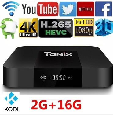 mini stiralnaya mashina в Кыргызстан: Супер Smart TV Box Tanix TX3 Mini (2Gb/16Gb) С новым 8- ядерным