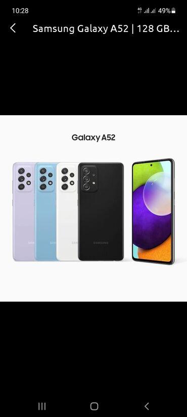 Samsung Galaxy A52 | 4 GB | Qara | Barmaq izi, İki sim kartlı