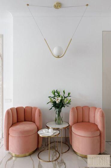 клубные дома в бишкеке в Кыргызстан: Кресла. Индивидуальный заказ. Минимализм. Эстетика. Розовые. Очень
