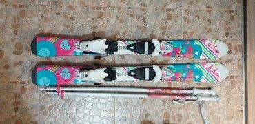 Лыжи в Кыргызстан: Детские лыжи Elan 90 см+палочки