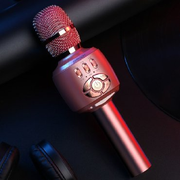 беспроводной-микрофон в Кыргызстан: Портативный караоке микрофон со встроенным динамиком Joyroom JR-MC2