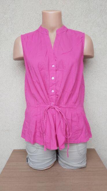 Pink pamucna kosulja Duzina 59cm Grudi 47cm Ramena 34,5cm Struk 33cm