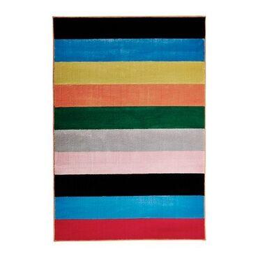 Ковер IKEA (Икея), короткий ворс, разноцветный, размер 133x195 см