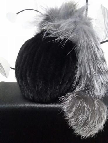Вязаная норковая шапка , хвост из чернобурки , обращаться по телефону  в Novopokrovka