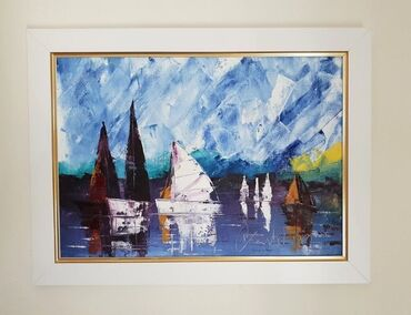 Slike na platnu - Srbija: AKCIJA! Ulje na platnu Miris mora, prelepo umetnicko delo. Dimenzije