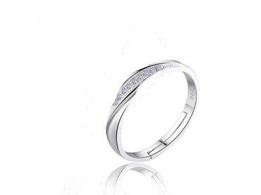 Prilikom - Srbija: Srebrni 925 prsten sa cirkonima slanje besplatnonov prsten, podesivi