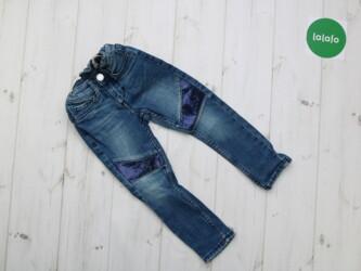 Детские джинсы на девочку с пайетками H&M, 2-3 года   Длина штанин