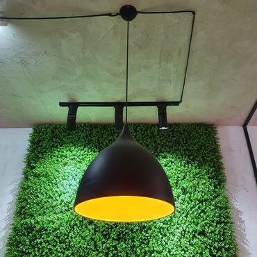 Освещение в Кыргызстан: Люстра диаметр 35см, высота 40см. - 6 штук, черно жёлтые. Самовывоз