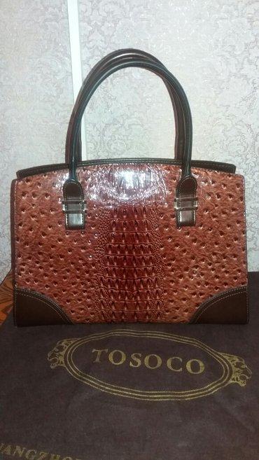 Женская сумка 26см × 36см. Tosoco. Дополнительный длинный ремешок. в Бишкек