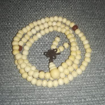 Slonovace - Srbija: Budistička brojanica, ogrlica, narukvica, slonovača-belaUnisex