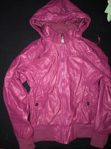 Od skaja - Srbija: Dečija jakna od skaja, ciklama boja, veličina 158 u odličnom stanju