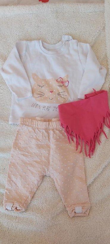 Dečija odeća i obuća - Zabalj: Set u velicini 74  Cena 550