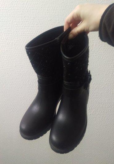 Gumene cizme vel. 37.Gaziste 23,5 cm...Kombinacija platno i guma. - Kucevo
