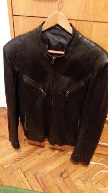 Crna.meka kozna jakna.broj48