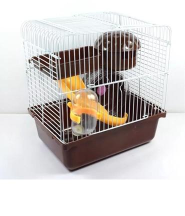Xamyak,cunqarik (hamster) ucun yrni qefes.Her bir aksesuarlari ile