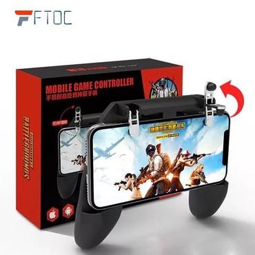 Bakı şəhərində Gamepad W10 PUBG Fortnite Standlı Ateş Tetik Düğmeli Joystick, cox