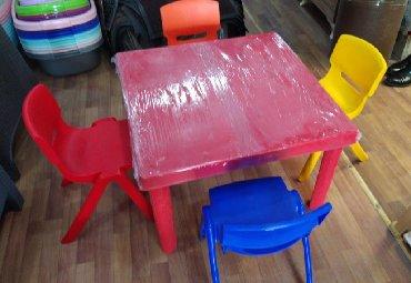 uşaq oturacaqları - Azərbaycan: Usaq masa desti 80×80 hundurluk 50 sm oturacaq 33 sm 130 azn Seher