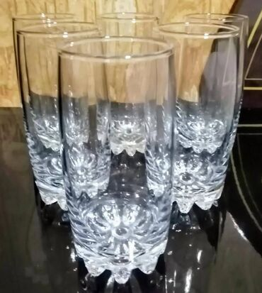 Стаканы для воды/сока, 6 шт, новые, но без коробки, высота стакана =