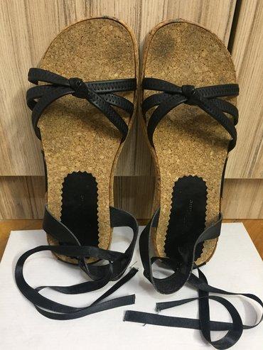 Ženska obuća | Pirot: Ravne sandale, u odlicnom stanju. Vezuju se oko noge satenskom trakom
