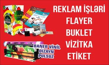 vizitka qabları - Azərbaycan: Reklam isleri, flayer, buklet,vizitka,etiket ve s cap isleri