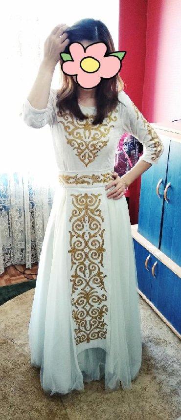 """шикарно свадебное платье в Кыргызстан: Шикарное платье сшито на заказ.Одевала один раз на """"Кыз"""