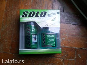 Solo sport kozmetitčki set. Body spray 150ml + after shave 125 ml - Beograd