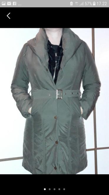 Zimske-jakne - Srbija: Zimska maslinasto zelena jakna,očuvana,vel.38,kragna je prejana
