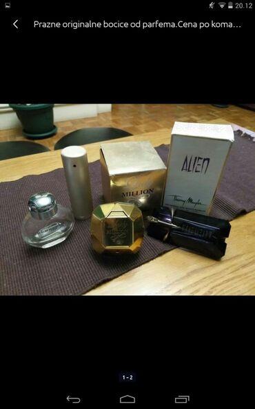 Personalni proizvodi | Obrenovac: Prazne originalne bočice od parfema cena po komadu 200 din