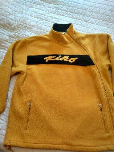 Ярко жёлтая толстовка,флисовая, фирма KIKO,с интересным боковым