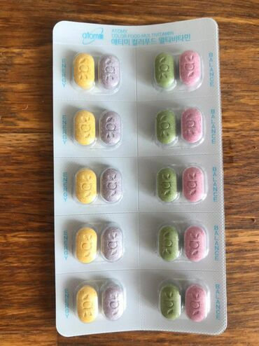"""Мульти витамины Atomy color food multivitamin Мульти витамины """"Atomy C"""