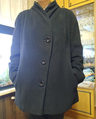 Состояние отличное Пальто кашемир Куртка 100% кожа,жатка Размеры 50-52