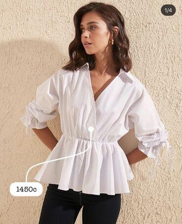 Блузка белая,очень милая Производство Турция  Размер:s-m