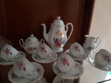servizi - Azərbaycan: Cexoslovakiya kofe servizi. Ideal veziyyetde