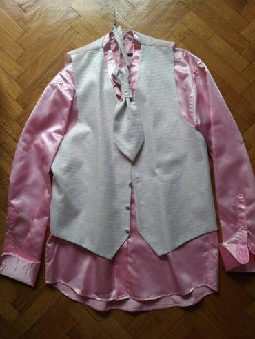Kosulja satenska, prsluk, kravata, Angelo Marinelli, velicina 41/42 - Belgrade