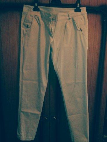 Pantalone zenske 97%pamuk 3%elastin velicina xl. Puder boja. Elegantne - Beograd