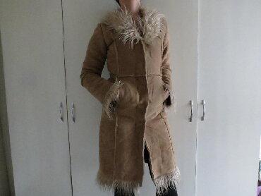 Krzneni kaputi - Kraljevo: Bundica dugacka S velicina bundica kao nova u braon boji, velicina