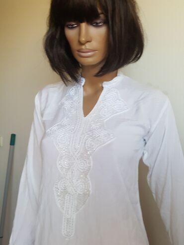 Ženska odeća   Jagodina: Rucni rad pamuk bluzica S iz inostranstva