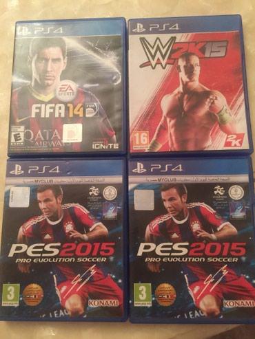 Gəncə şəhərində PS 4 oyun diskleri. 1 denesi 10 azn