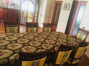 2 х спальную кровать в Азербайджан: Ковровая скатерть 2,10х1,5. Бахрома с 4-х сторон. Материал- бархат .Но