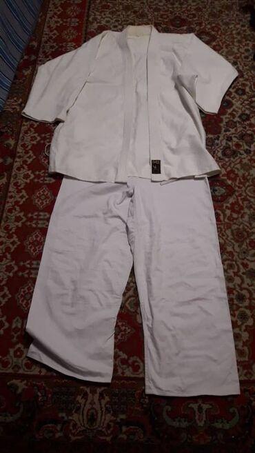 Продаётся белое кимоно для дзюдо, для больших размеров(5 размер)!
