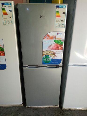 холодильник в Кыргызстан: Новый Двухкамерный Серый холодильник Avest