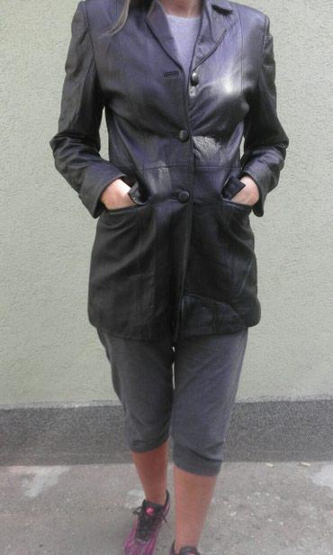 Monina kozna jakna kao sako.duzina 78,rukavi 59,ramena 40. - Pancevo