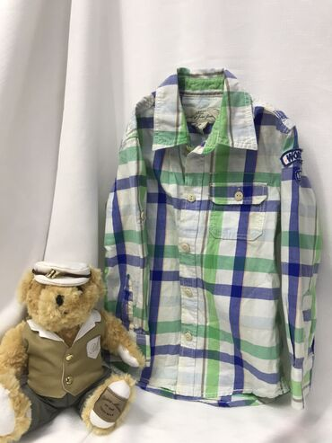 Рубашка для мальчика 4-5 лет  100% ХБ  « EuroShop » Одежда и обувь для