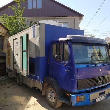 грузовое авто в аренду in Кыргызстан   HONDA: Мерседес бенз гигант 814 94год серая панель объем 6.0кубов черный мото