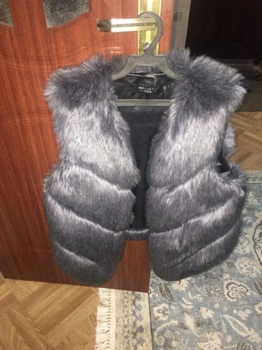 Меховая безрукавка одевала 3 раза размер 46-48 в Лебединовка